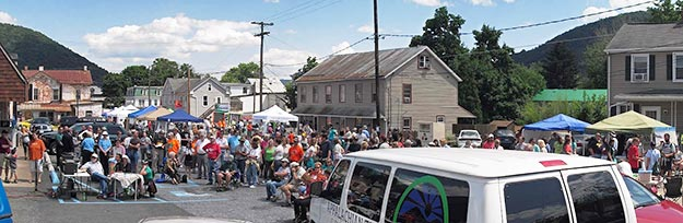 Crowd Gathers at Duncannon Appalachian Trail Community Festival