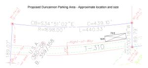 Duncannon Parking Layout