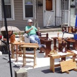 Sheldon Ott of Appalacian Primitives sells woodwork at DATC Festival
