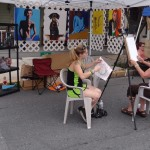 Leaping Lizards draws caricatures at festival in Duncannon