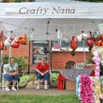 Crafty Nana sells decorated gourds at DATC festival
