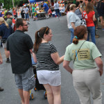 Hikers in the crowd at festival in Duncannon