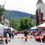 Streets were closed for the Duncannon Appalachian Trail Festival