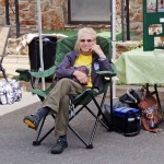 DATC Volunteer takes a break from the Duncannon AT Festival