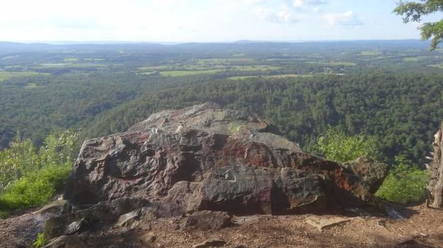 Duncannon's Hawk Rock after August 2014 graffitit removal