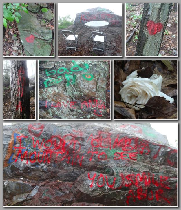 Major act of vandalism at Hawk Rock near Duncannon, PA