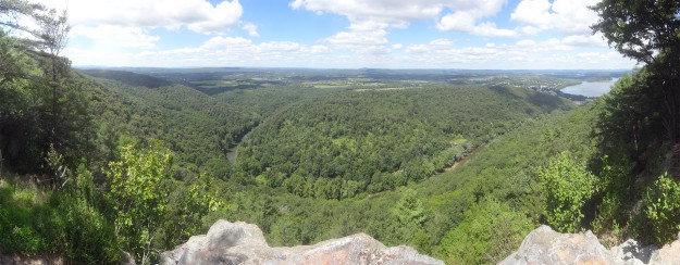 Amazing panoramic view from Duncannon PA's Hawk Rock, summer 2014