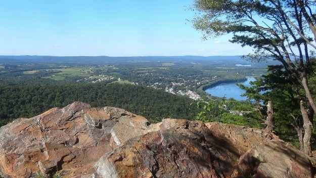 View of Duncannon PA from Hawk Rock