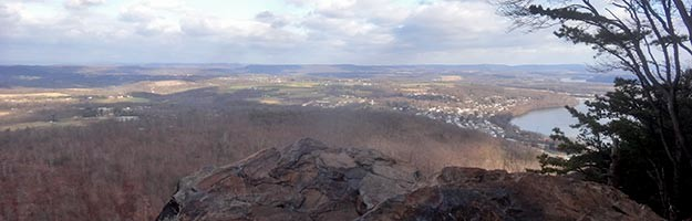 View from Hawk Rock overlooking Duncannon and the Susquehanna River.